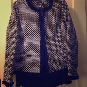 Karl Lagerfeld black and white suit, size 8 NWT